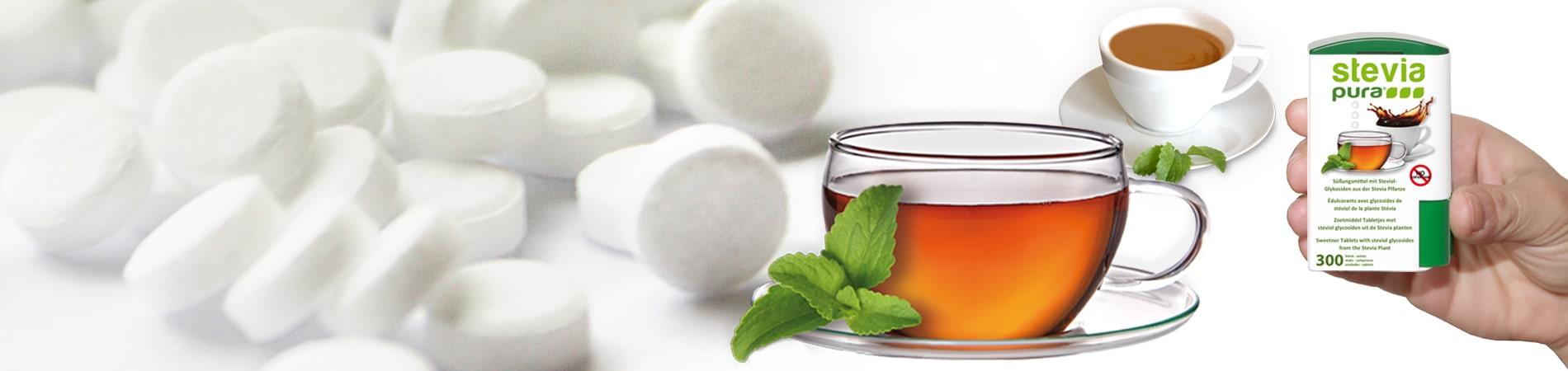 Stevia Tabletten sind ideal zum Süßen Ihrer heißen Getränke geeignet