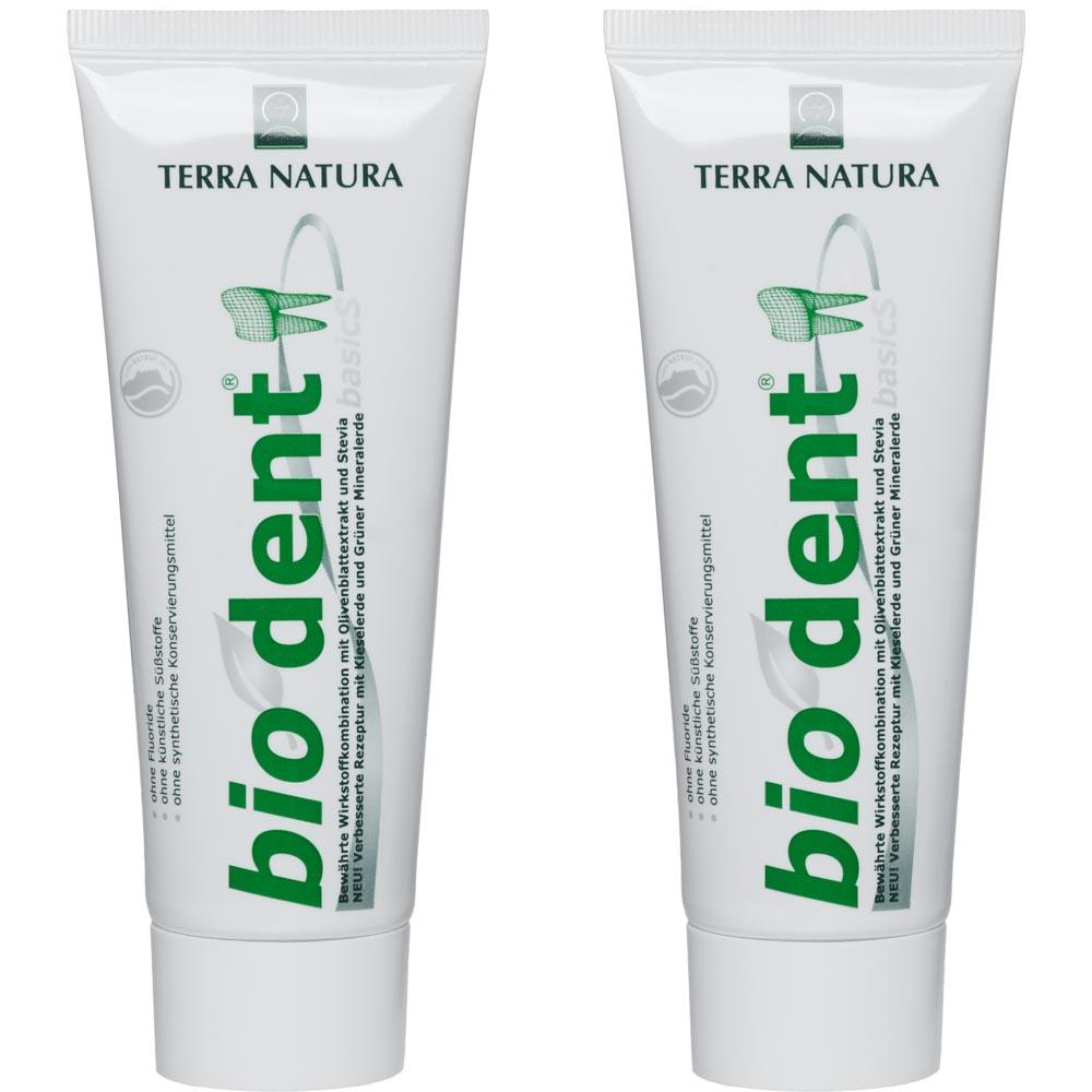 Biodent Basic Zahncreme ist fluoridfrei und Homöopathie verträglich.