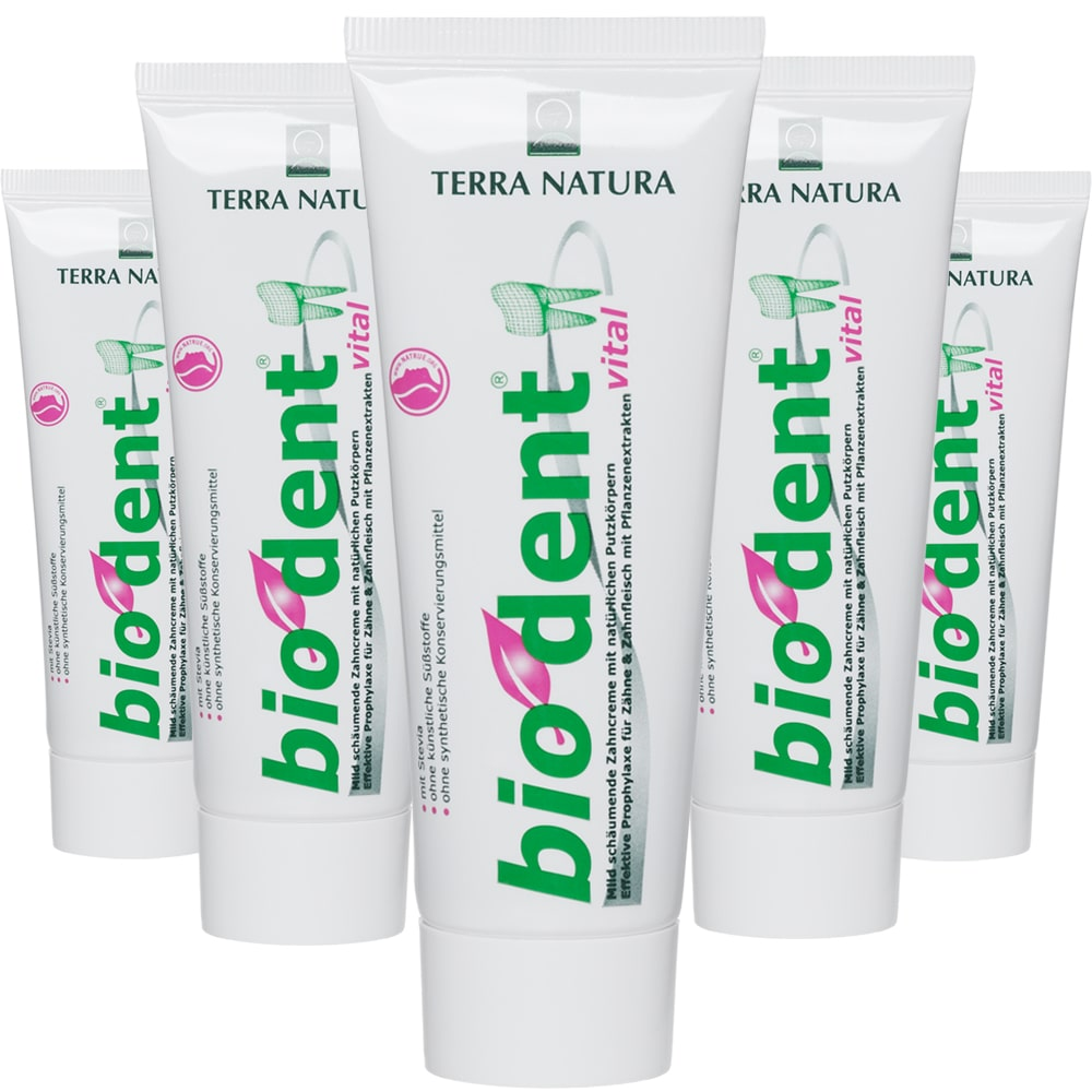 Vegan toothpaste without fluoride.