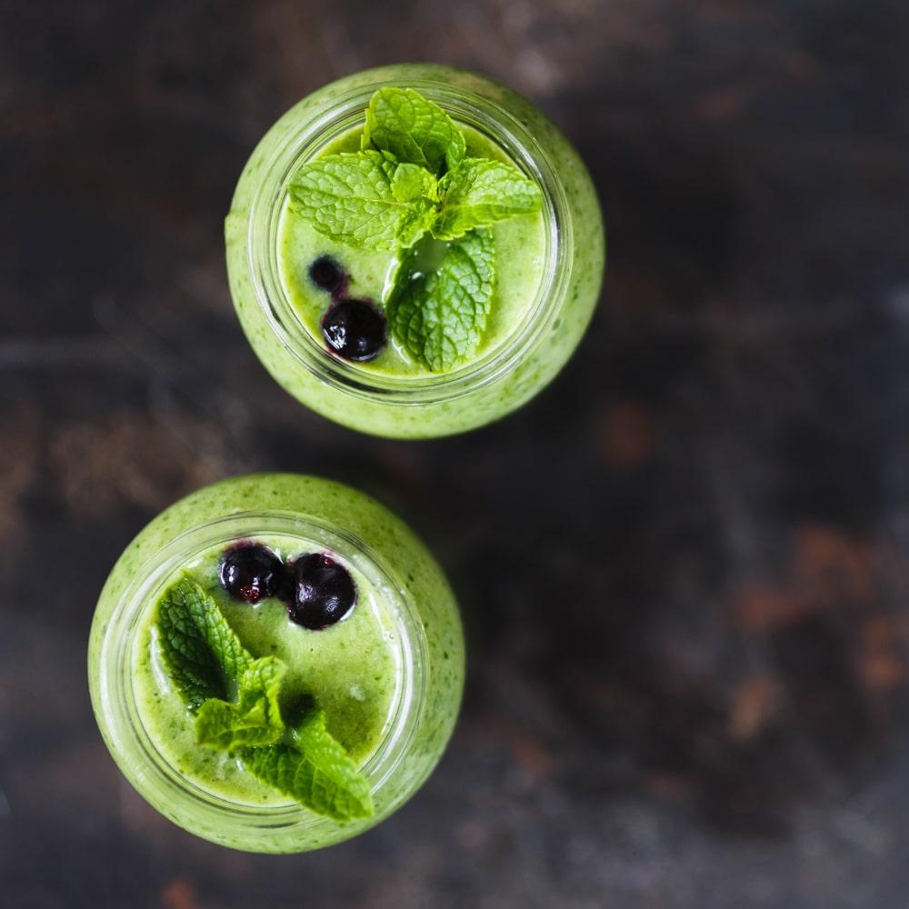 Leckere grüne Smoothies mit Stevia gesüßt.