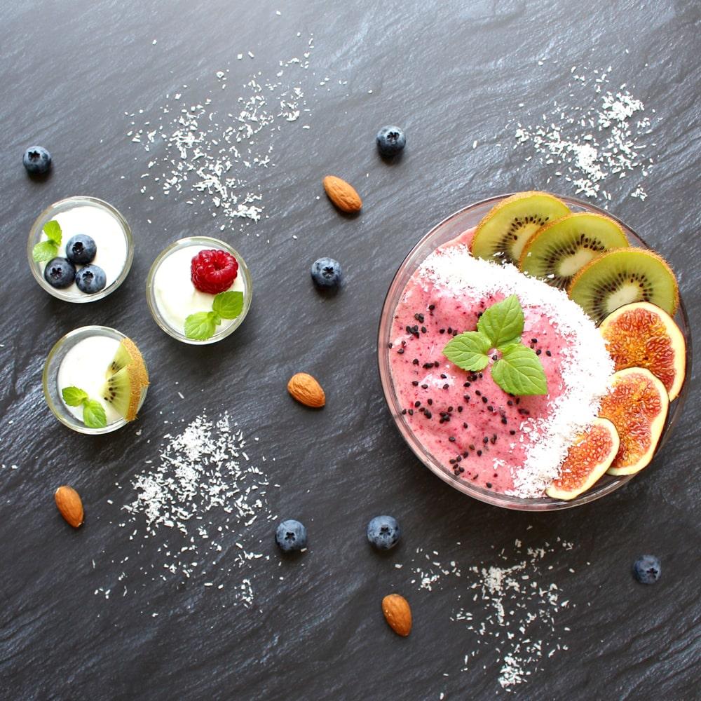 Gesund Essen Obst und Milchprodukte