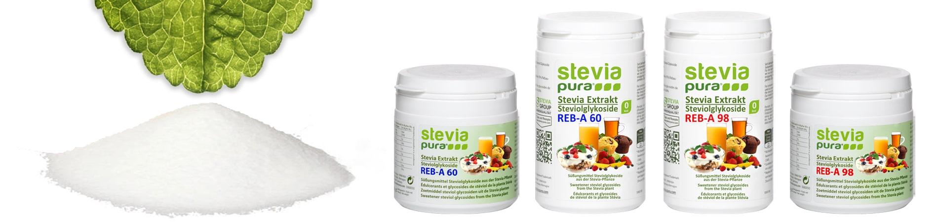 Reines Stevia Pulver kaufen Rebaudiosid-A Steviolglykoside