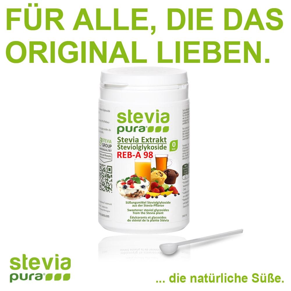 Reines Stevia Extrakt kaufen 100g Reb-A98% Zuckerersatz