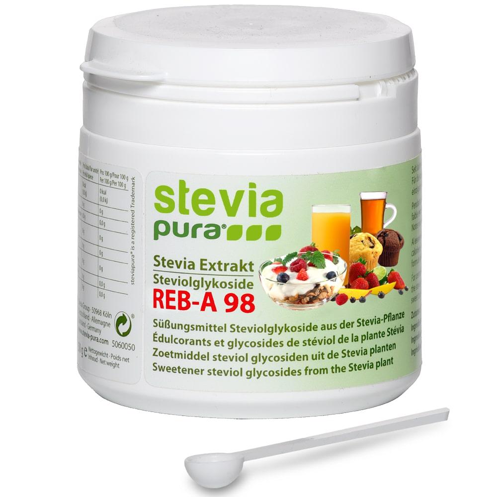 Reines Stevia Pulver kaufen 50g Reb-A98% Extrakt