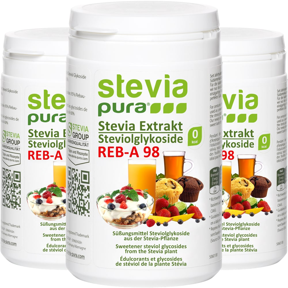 Reines Stevia Pulver kaufen 100g Reb-A98% Extrakt
