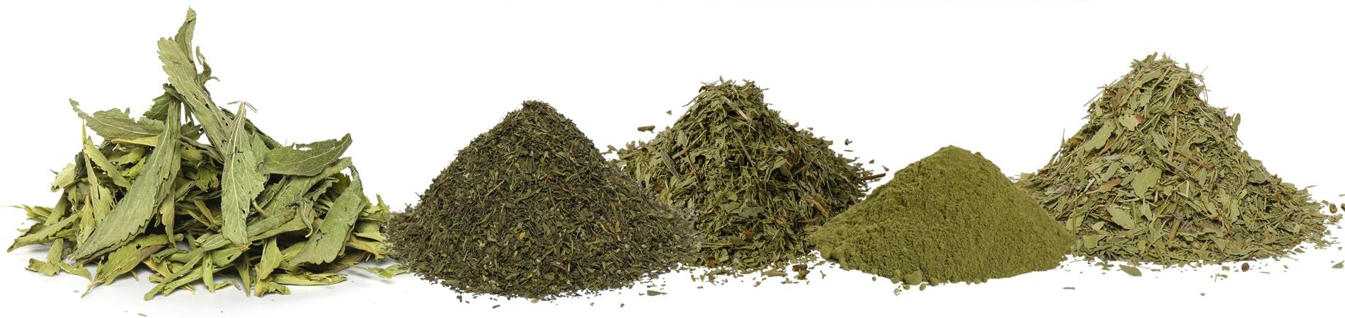 Stevia Blätter gemahlen-geschnitten-ganz