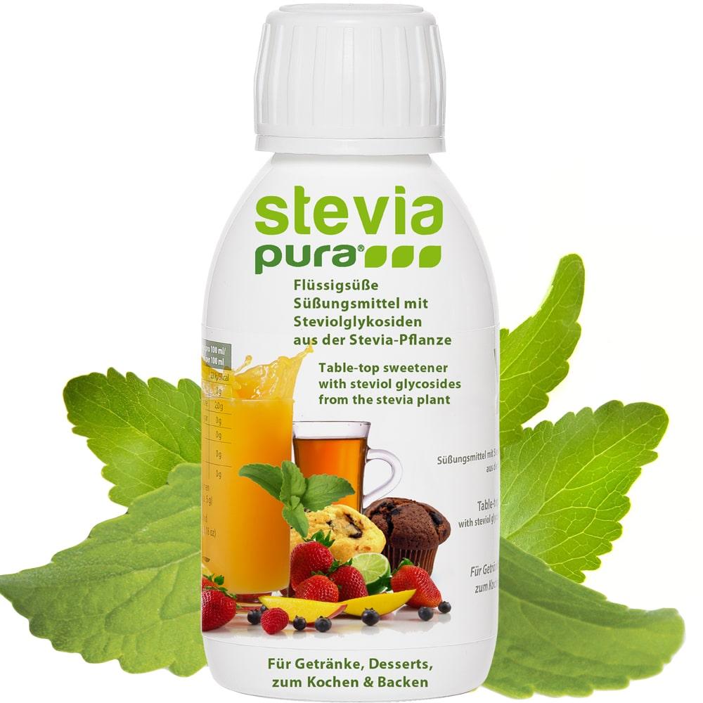 Stevia Flüssigsüße 150ml Flasche für Gtränke, Desserts, zum Kochen und Backen.