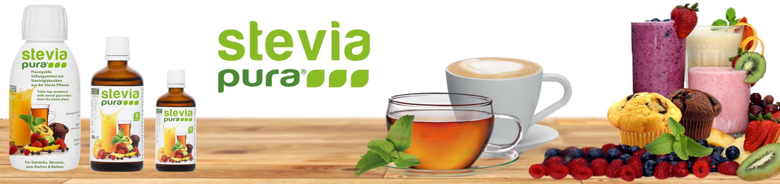 Stevia Flüssigsüße im praktischen Tropfenspender. Die perfekte universelle Süße für alle warmen und kalten Getränke und Speisen!