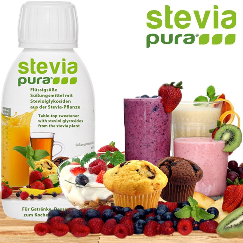 Stevia Flüssigsüße kaufen: steviapura Marken-Qüalität