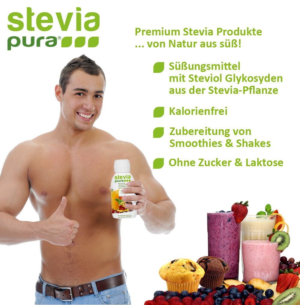 Die Stevia Flüssigsüße zum Kochen, Backen und für Smoothies und Sport-Getränke.