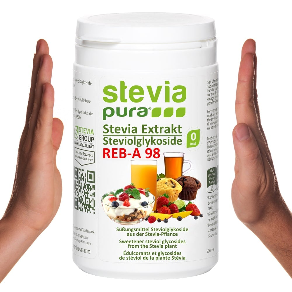 Stevia Extrakt Rebaudiosid-A 98% mit dem besten Geschmack.