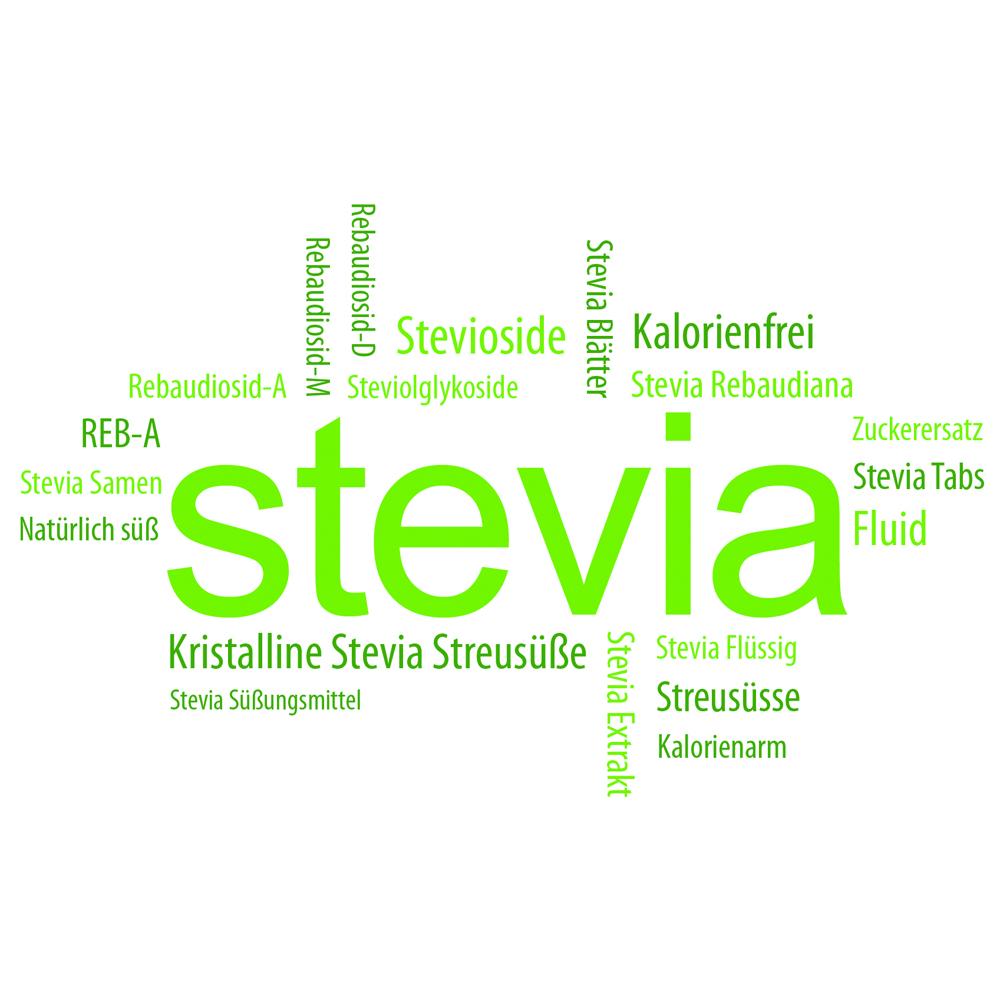 Stevia Süßstoff als Zuckerersatz.