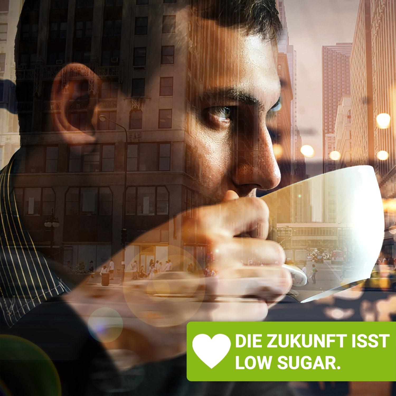 Stevia Süßstofftabletten für den Kaffee.