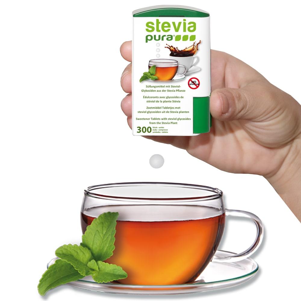 Stevia Süßstofftabletten ohne Aromen Zusatz.